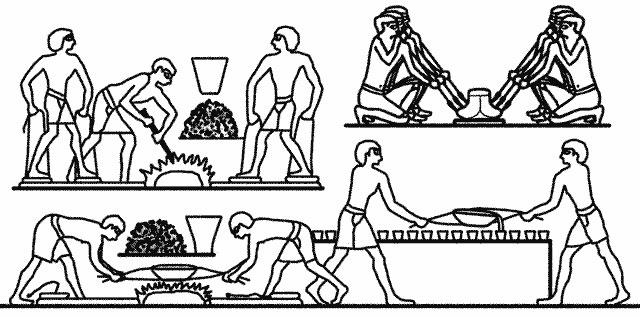 Antiikin Egyptin metallityöntekijöitä